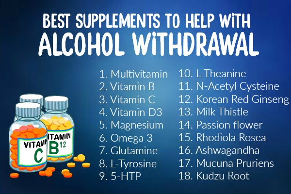 best supplements to assist alcohol withdrawal
